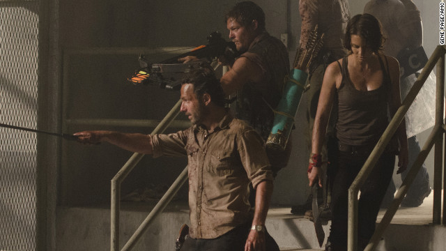 "Sunday night's third season premiere of ""The Walking Dead"" delivered a 5.8 rating from adults 18-49."