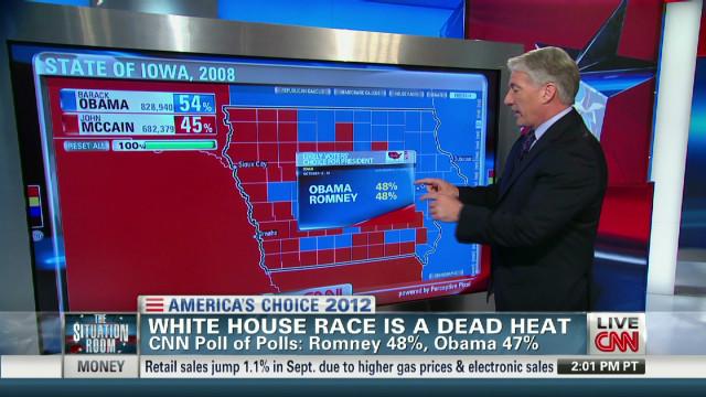 Presidential race locks up in dead heat