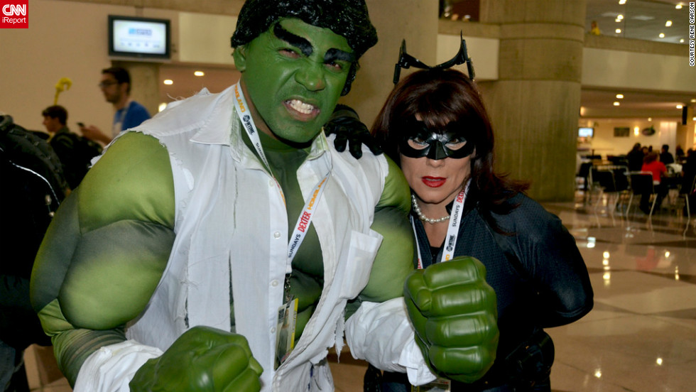 "Rene Carson, a photographer from Jersey City, New Jersey, is a huge fan of comics, film and television. ""Pop culture is one of my favorite subjects to shoot."" This time he caught another mixed pairing of ""The Avengers' "" Hulk and another Catwoman.<a href=""http://ireport.cnn.com/docs/DOC-857554"">Check out more photos on Rene Carson's iReport</a>."