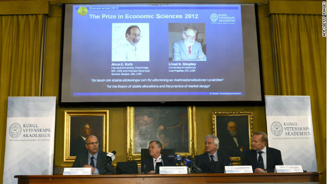 The Swedish Royal Academy of Sciences present the winners of the Nobel Memorial Prize in Economic Sciences.