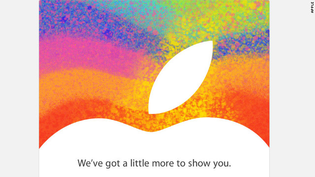 Apple sent this invite to members of the media Tuesday. The graphics offer few clues as to what the company may announce.