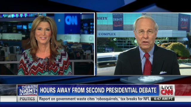 Debate Co-Chair Fahrenkopf Talks with CNN