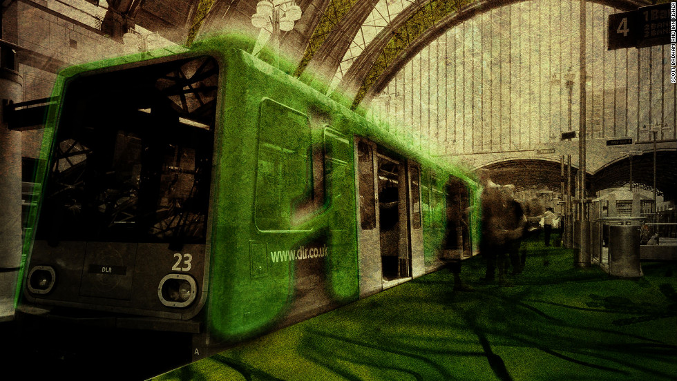 """Scott Badham and Ian Fisher imagined retrofitting London's buses and trams and trains with """"biocentric mats and sleeves."""""""