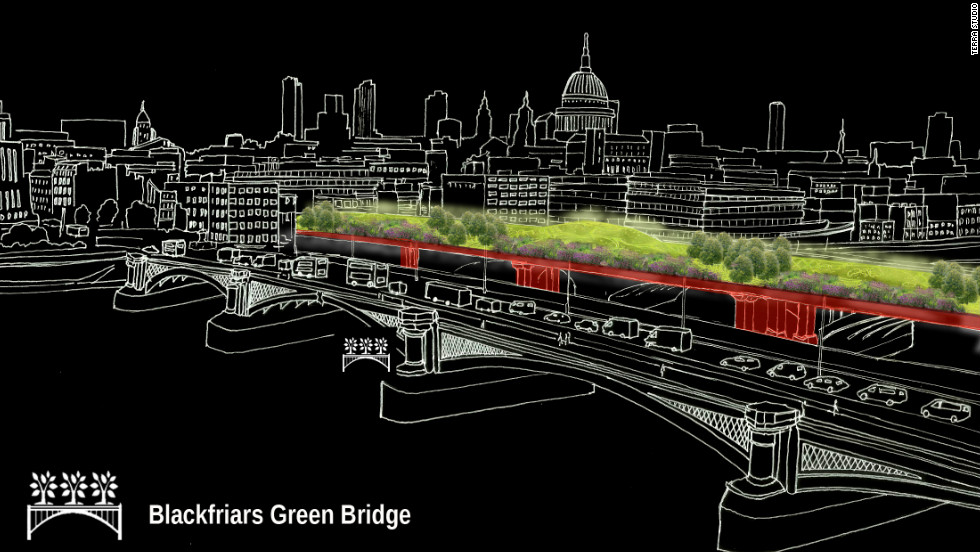 "Terra Studio's idea is to create four green infrastructure schemes including a ""green bridge"" on London's Blackfriars Bridge."