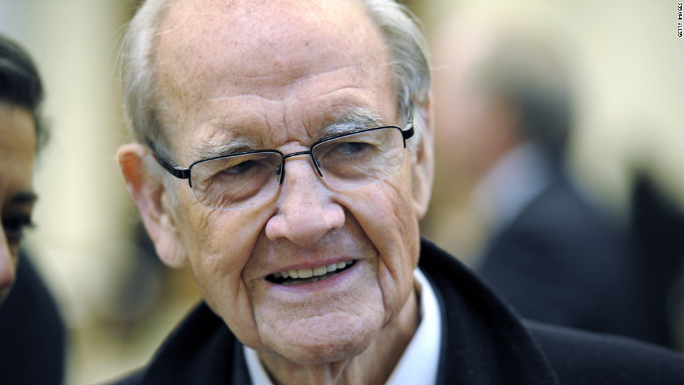 Former Sen. George McGovern, 90, died on Sunday morning. McGovern was the Democratic nominee for president in 1972. He ran against incumbent Richard Nixon and won only 17 electoral votes to Nixon's 520. He served in the U.S. Senate and House representing South Dakota before his loss for the top office. Pictured, McGovern attends the 2011 funeral service for Sargent Shriver, his 1972 running mate.