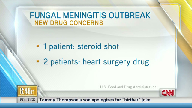 Two new drugs linked to meningitis