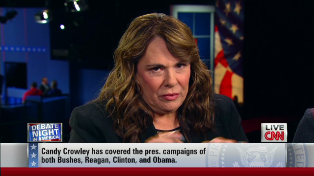 Candy Crowley on the candidates' tension