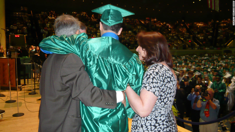 By June 2010, three months after the accident, Bobby attended his high school graduation. His parents helped him cross the stage to receive his diploma.