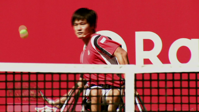 Japan's wheelchair tennis champion