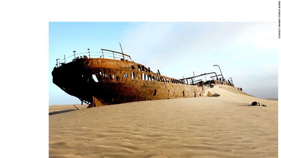 Animal bones give the Skeleton Coast its name but there are plenty of ships' carcasses, too.