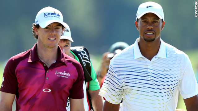 World No. 1 Rory McIlroy (left) is being tipped to assume Tiger Woods' mantel as golf's dominant force.