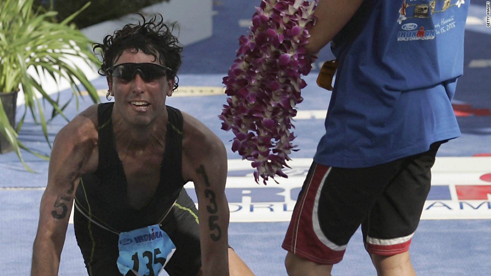 The Hawaii Ironman is the most famous event in triathlon but also among its toughest. Intense heat and crosswinds bring competitors to their knees as they tackle the 3.8km swim, 180km bike ride and marathon run on Kona Island.