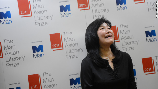 South Korean author Kyung-sook Shin is pictured after she won the 2011 Man Asian Literary Prize in Hong Kong on March 15.