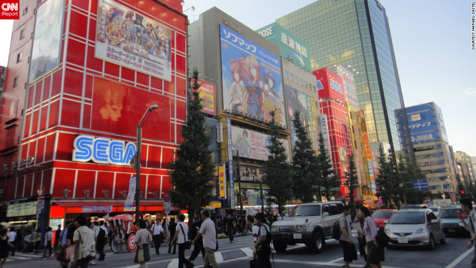 "It's hard to ignore Tokyo's electronics district. Whether you're looking for comics, video games or anime, Akihabara has it all. Having dreamt of going for years, iReporter Mathieu Castel says it felt like home when he finally went. ""It's big, it's magic and you feel how small you are in front of it all,"" he said. ""I've never had that feeling anywhere else before."" <a href=""http://ireport.cnn.com/docs/DOC-841866"" target=""_blank""><br />Learn more about his Akihabara experience on his iReport</a>."