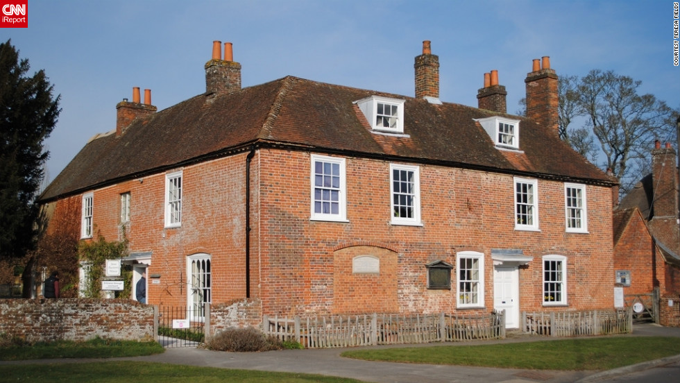 "Tucked away in Hampshire, literary nerds can explore the inspirational home where novelist Jane Austen spent the last eight years of her life. iReporter Teresa Fields says it was surreal to walk the same paths that Jane Austen once walked. ""It was a culmination of every fantasy you ever had when reading her books,"" she said.<a href=""http://ireport.cnn.com/docs/DOC-840902"" target=""_blank""><br />See more photos from her lovely Jane Austen pilgrimage on her iReport</a>."