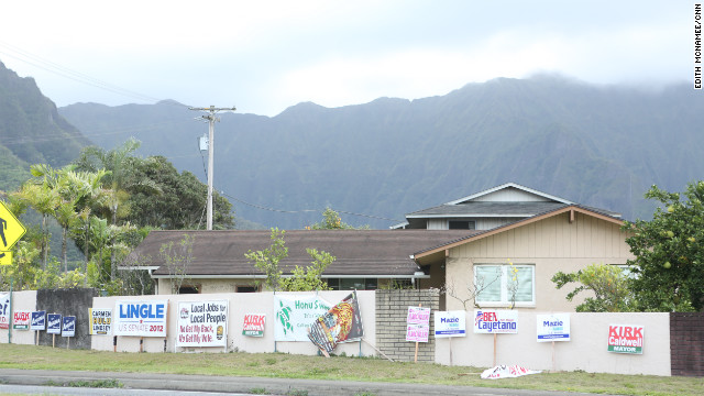 Signs of political life are visible on Oahu, but most don't participate in elections.