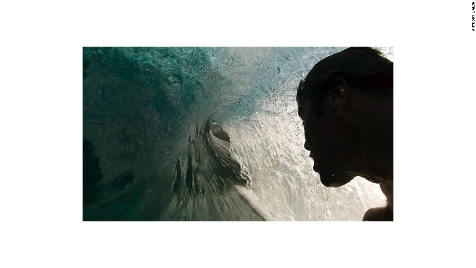Surfer Anthony Walsh captured this shot while riding a wave.