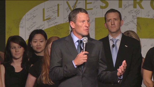 Lance Armstrong talks to Livestrong
