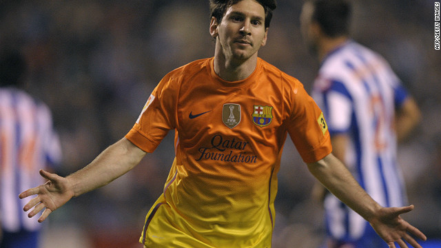 Lionel Messi inspired Barcelona to a 5-4 victory over Deportivo La Coruna on Saturday scoring yet another hat-trick.
