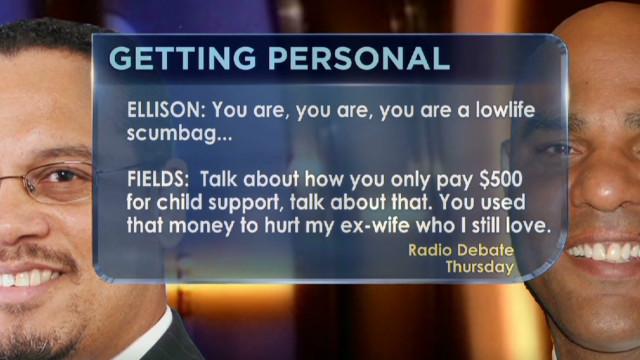 Rep. Ellison calls challenger 'scumbag'