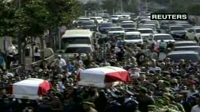 Lebanese general's funeral draws crowds
