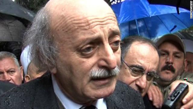 Lebanon's Druze chief Walid Jumblatt.