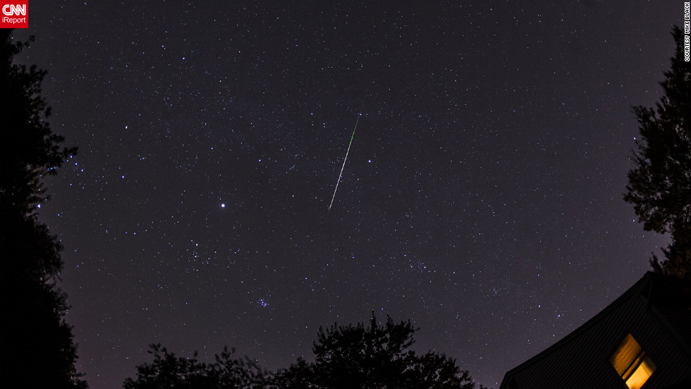 "As a science teacher, <a href=""http://ireport.cnn.com/docs/DOC-861953"">Mike Black</a> says he has always been a fan of meteor showers. ""They remind us that we live on a small rocky world with other bits of rock flying around space,"" he said."