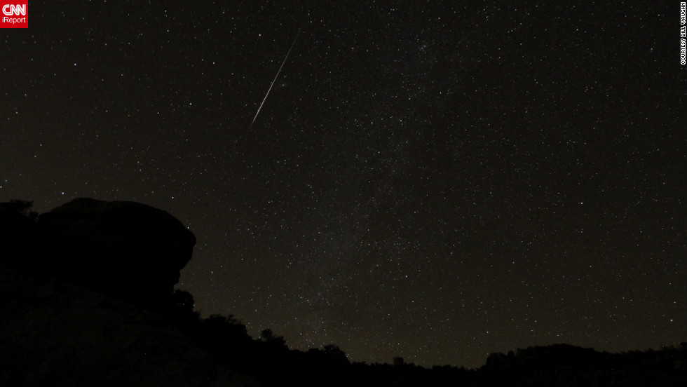 "<a href=""http://ireport.cnn.com/docs/DOC-861975"">Bill Vaughn</a> says he always enjoys watching a meteor shower with his wife, especially because they never know what to expect. He photographed the Orionids from Mount Lemmon, Arizona."