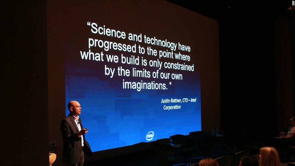 Intel's resident futurist, Brian David Johnson, address the audience at the CSI opening ceremony. The technology giant has collaborated with the center to create the Tomorrow Project USA, an online forum to engender conversation on big ideas for future technologies.