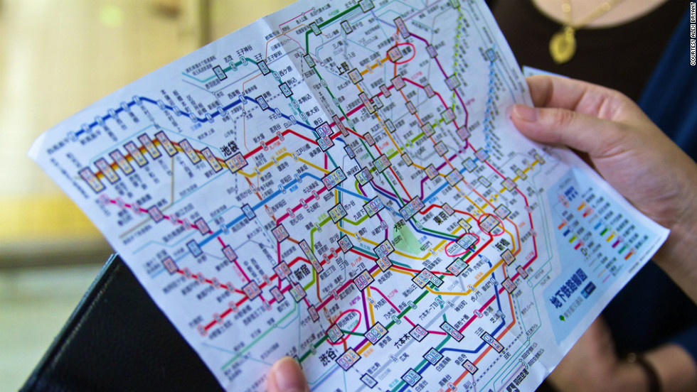 The Tokyo rail and subway map can be intimidating with so many lines and stops indicated. But after a few trips, reading the map becomes second nature.