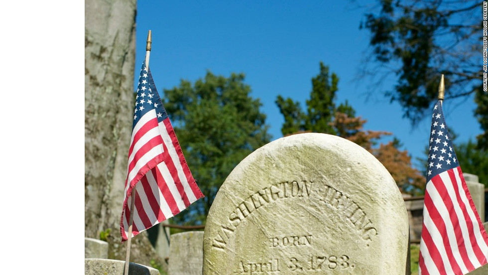 Washington Irving is buried in the adjacent Sleepy Hollow Cemetery.