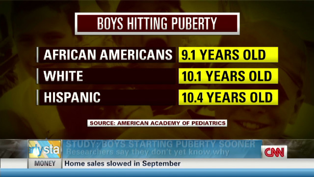 Study: Boys starting puberty sooner