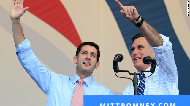 "Columnist John MacIntosh talks to Mitt Romney about the ""buyout"" Romney and running mate Paul Ryan are planning."