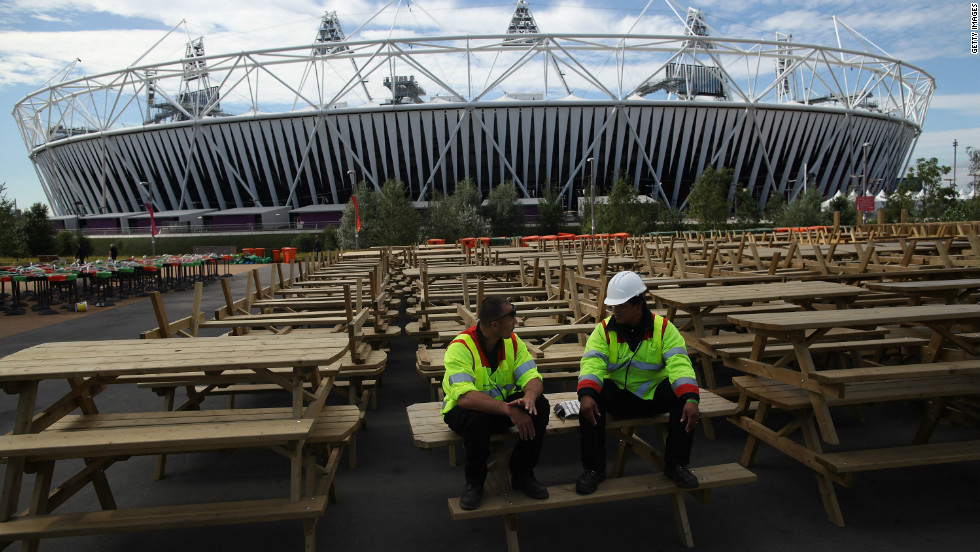 Workmen have already begun the task of transforming the Olympic site.