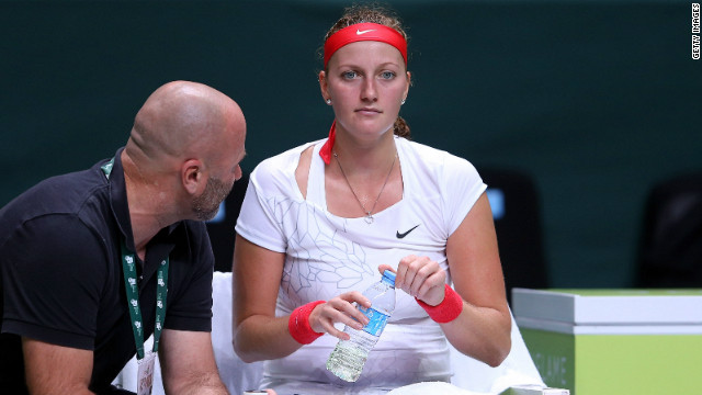 Defending champion Petra Kvitova was out of sorts in her match against Agnieszka Radwanska, making 41 unforced errors.