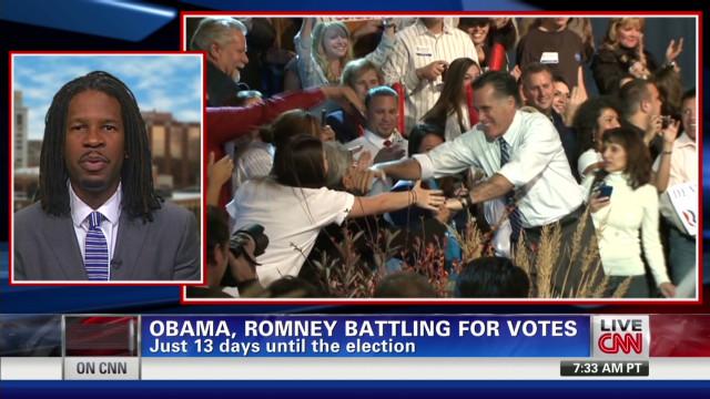 Obama, Romney battle for white voters