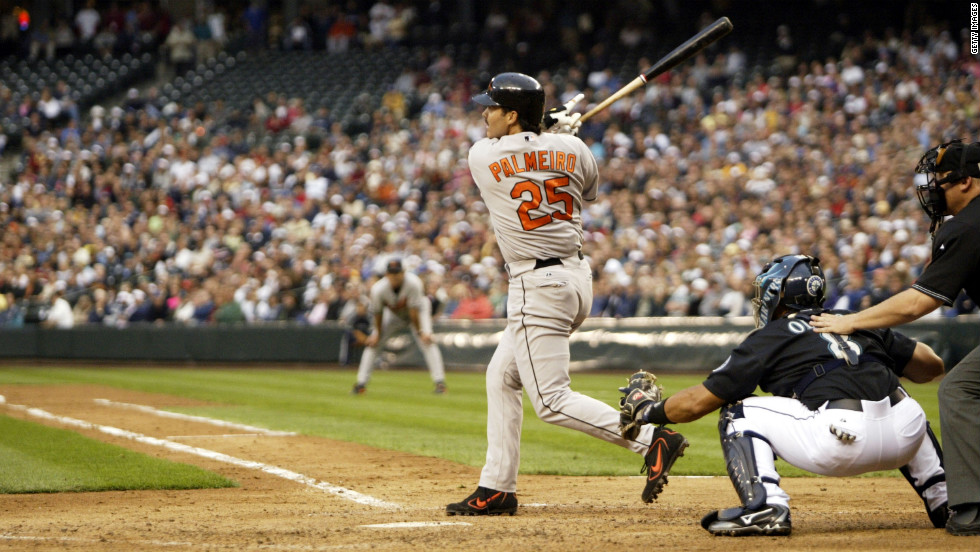After his former Texas Rangers teammate Jose Canseco accused him of using steroids, Rafael Palmeiro appeared before Congress in 2005 to deny the allegations. Later that year, he was suspended from baseball for testing positive for steroids. He maintains to this day he has never knowingly taken performance enhancers.