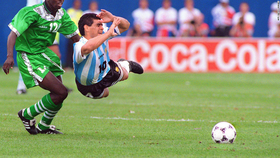 Eight years later the Argentine was kicked out of the competition after testing positive for banned stimulant ephedrine.