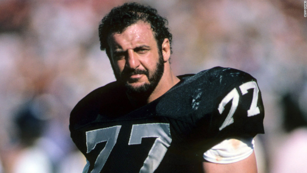 "Lyle Alzado was known as one of the most vicious lineman to ever play the game, and he chalked up more than 100 sacks and almost 1,000 tackles. Before his death from brain cancer at age 43, he told Sports Illustrated he began using steroids in 1969 and that, ""On some teams between 75 and 90% of all athletes use steroids."""
