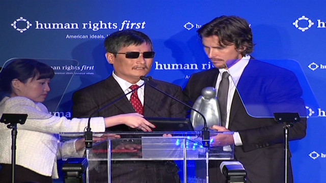 Bale presents award to Chen Guangcheng