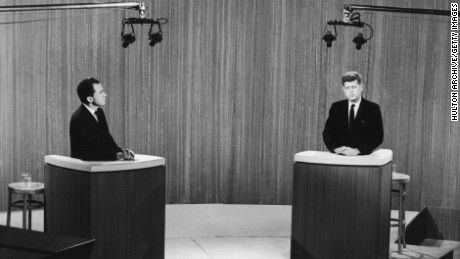 Nixon and Kennedy debate in 1960. Both future presidents were first elected to the House of Representatives in 1946.