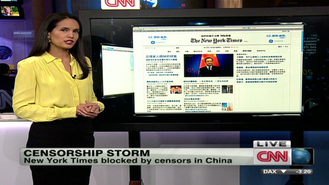 China censors NY Times after Wen story