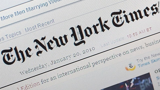 Chinese authorities blocked access to the English and Chinese websites of The New York Times on Friday, October 26, 2012.