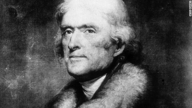 Thomas Jefferson (1743 - 1826), the 3rd president of the United States and author of the Declaration of Independence.
