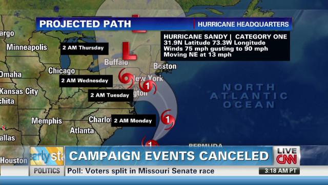 Hurricane Sandy may impact election push