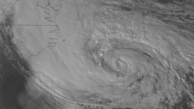 ISS flies over Hurricane Sandy