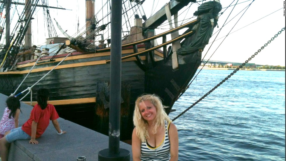 "One of the vicitms was an inexperienced deckhand. Claudene Christian, 42, tweeted this photo of herself and the ship shortly after she joined the crew a few months before the disaster. ""To not have her here is so hard,"" Hewitt said. After Hewitt's message-in-a-bottle ceremony, Christian's mother, Dina Christian, posted on Hewitt's Facebook page, ""Thank you Jessica, I know you remembered Claudene."" Christian's family filed a civil lawsuit against the Bounty's owners."