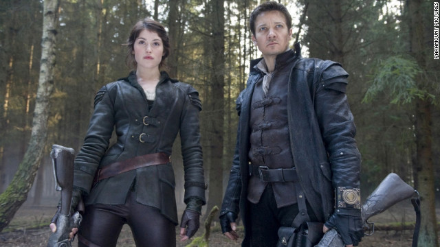 "Gemma Arterton and Jeremy Renner star in ""Hansel & Gretel: Witch Hunters."""