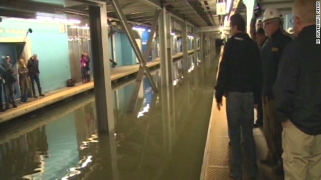 Tour New York's flooded subways