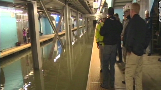 See New York's flooded subways
